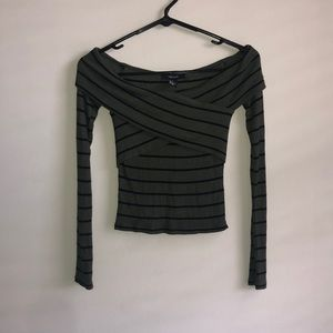 NWT stripe off the shoulder top